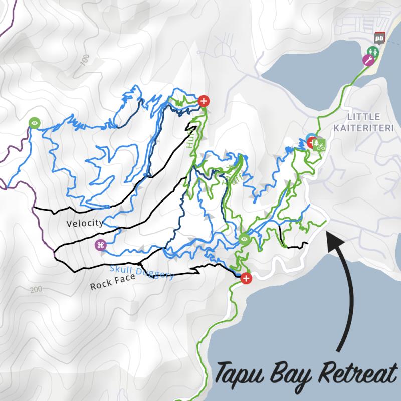 Kaiteriteri Mountain Bike Park Map (TrailForks.com)